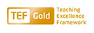 TEF Gold logo words